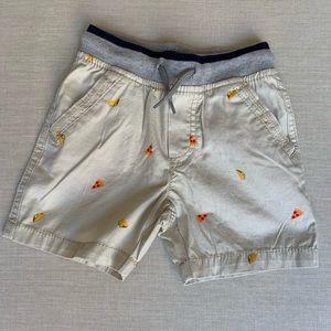 OshKosh B'gosh Toddler Khaki Taco Pizza Shorts, 2T